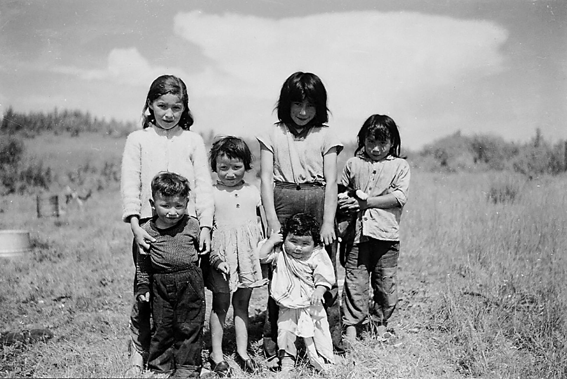 Children at South Indian Lake