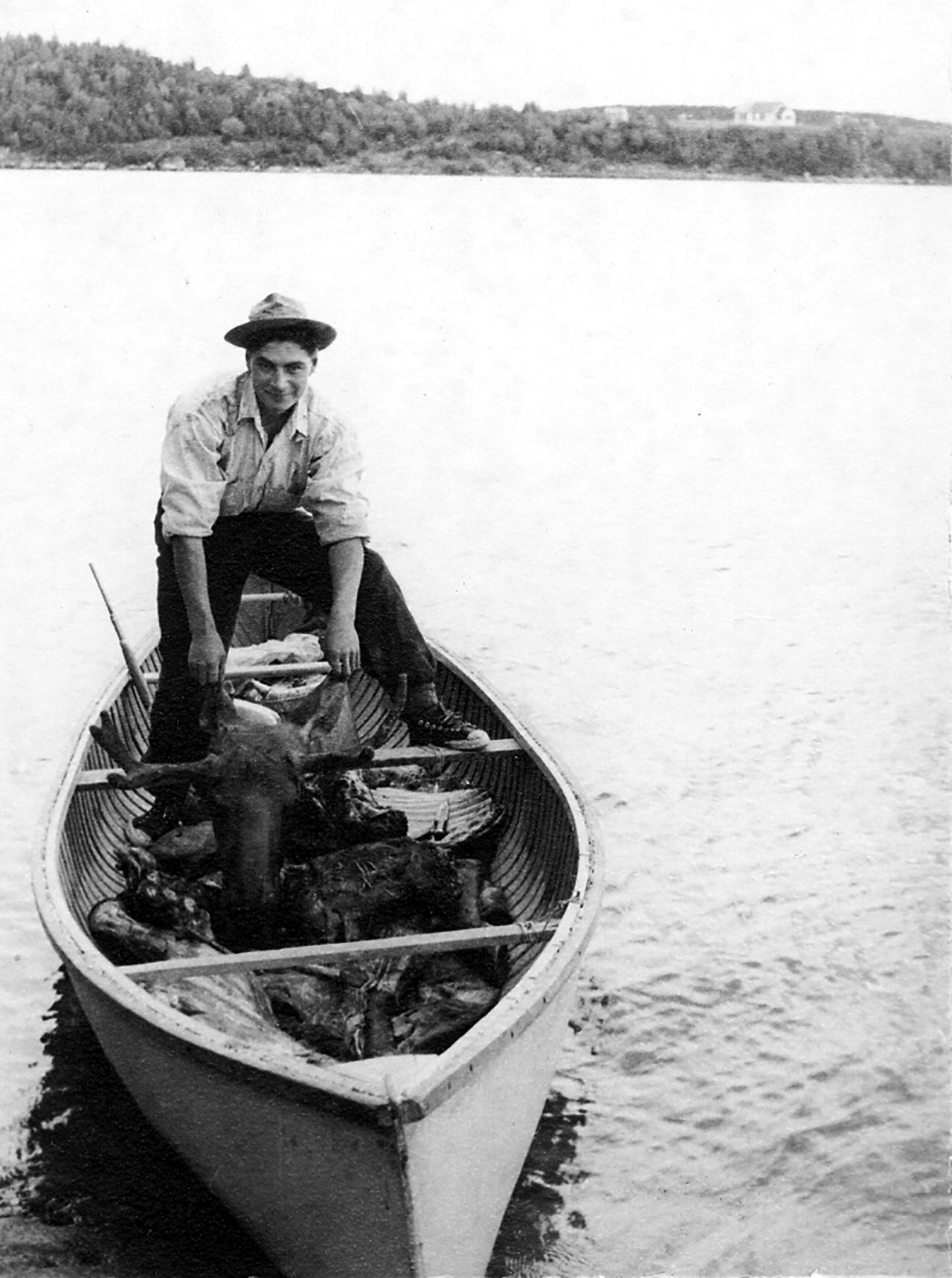 Moose Hunt with Murdo Dysart-Summer 1954