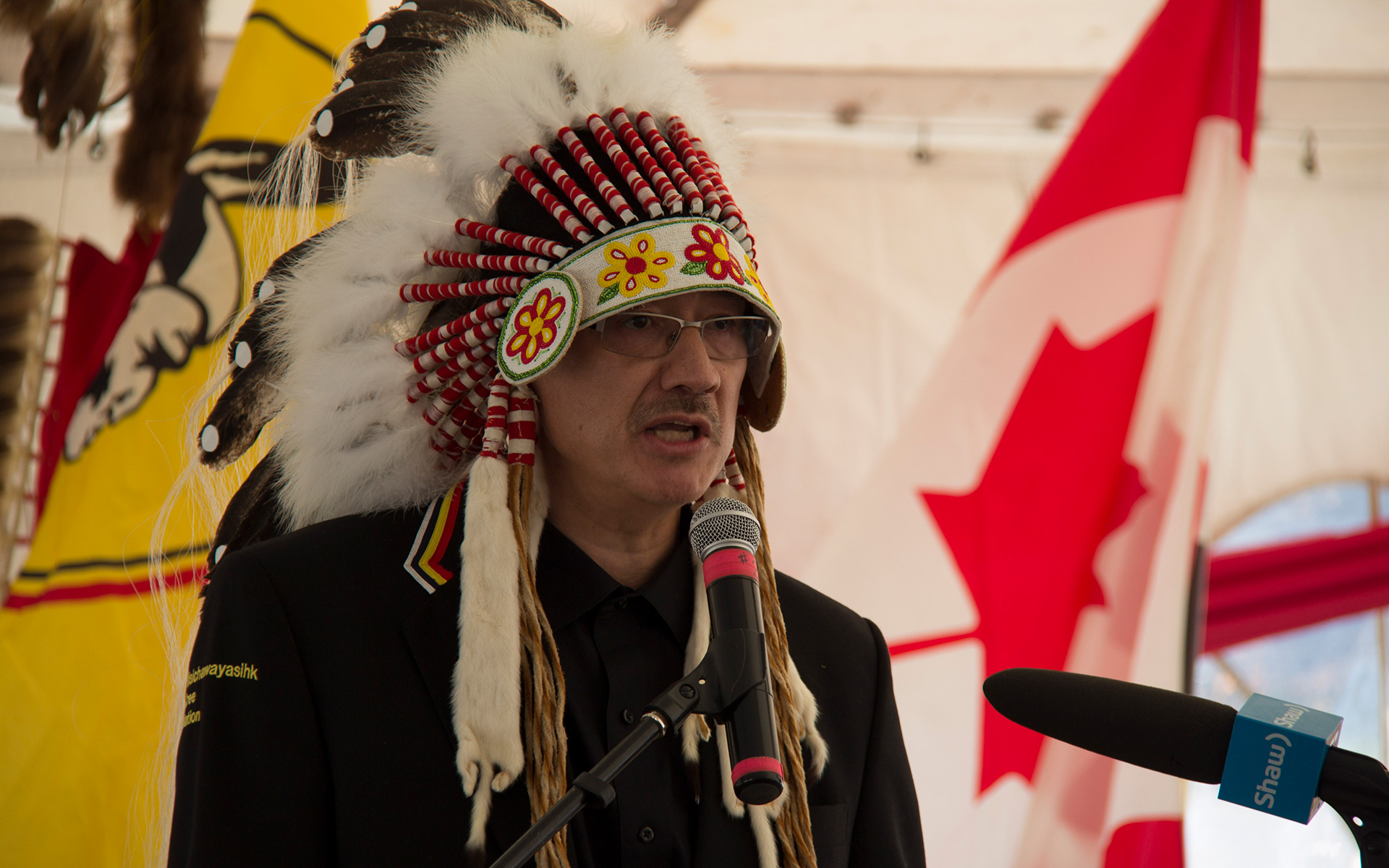 Chief Marcel Moody Speech at Mystery Lake Land Designation