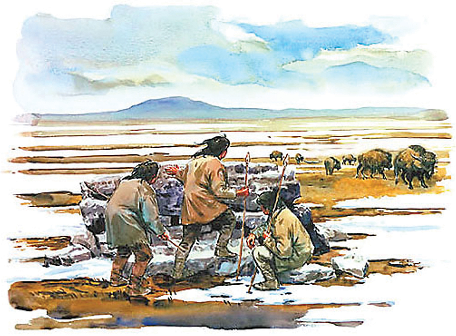 Paleo Indians Migrating South