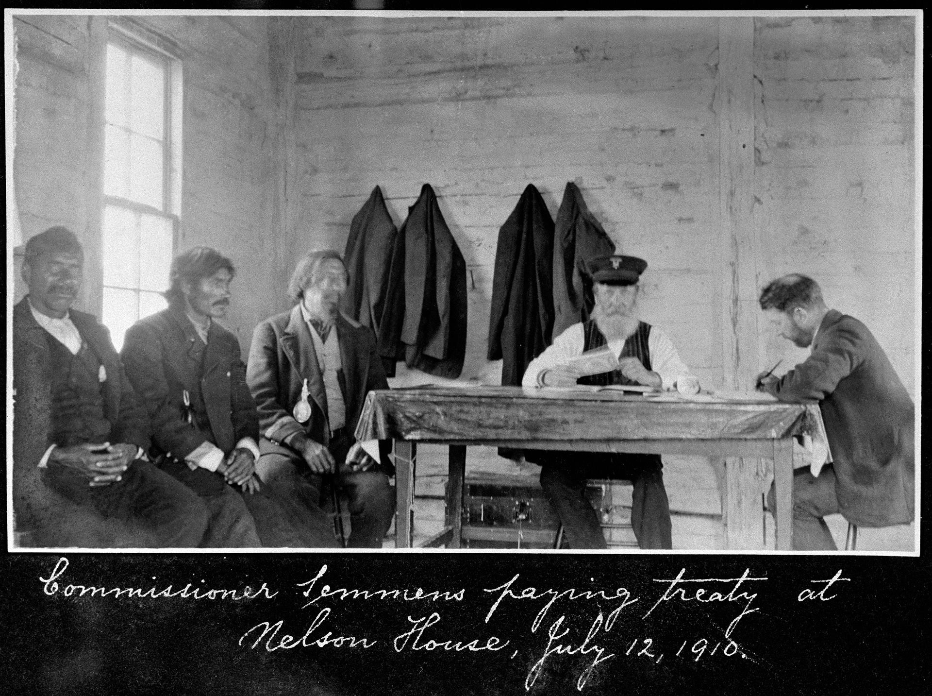 Paying Treaty at Nelson House 1910