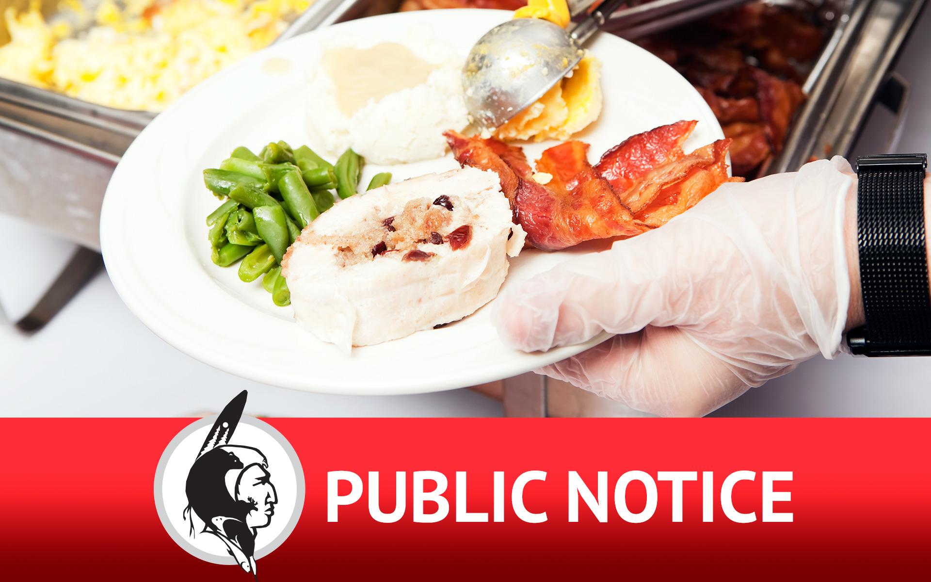 Public Service Announcement Regarding Food Handling