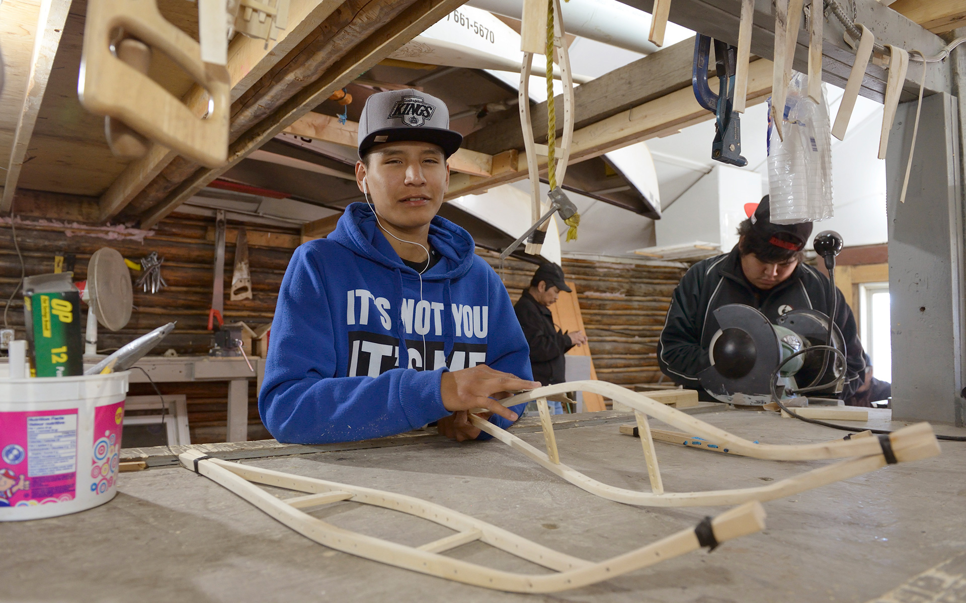 Youth Making Snowshoes