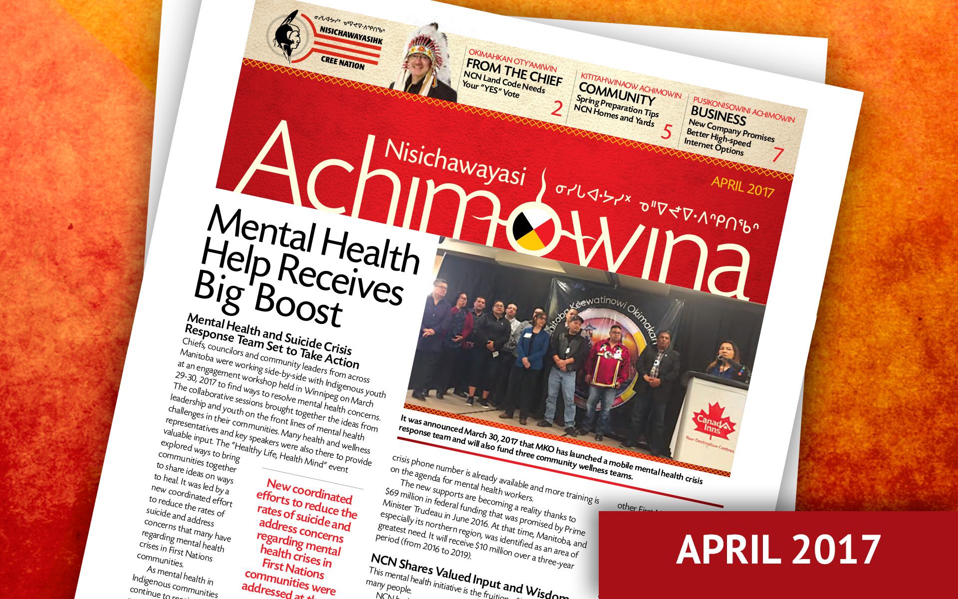 Achimowina April 2017 - Mental Health Help Receives Big Boost