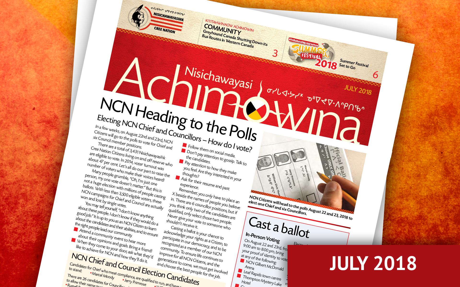 Achimowina July 2018 - NCN Heading to the Polls