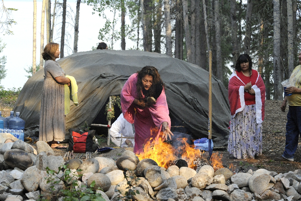 Elders Performing a Ceremony