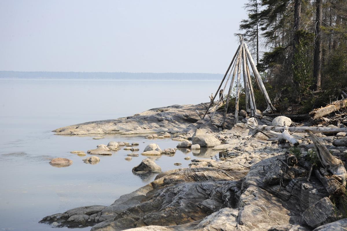 Shore on Footprint Lake