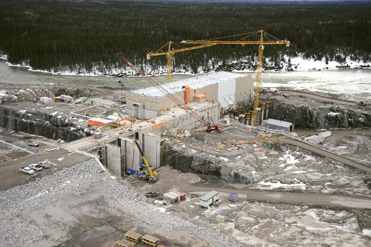 Building Wuskwatim Dam